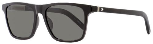Montblanc Rectangular Sunglasses MB719S 01D Shiny Black Polarized 56mm 719