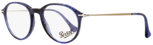 Persol Oval Eyeglasses PO3125V 1053 Blue Melange/Horn 49mm 3125