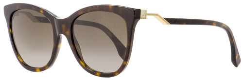 Fendi Oval Sunglasses FF0200S 086HA Dark Havana/Gold 55mm 200