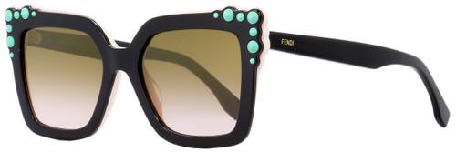Fendi Square Sunglasses FF0260S 3H253 Black/Pink 52mm 260