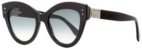 Fendi Cateye Sunglasses FF0266S 8079O Black/Palladium 52mm 266