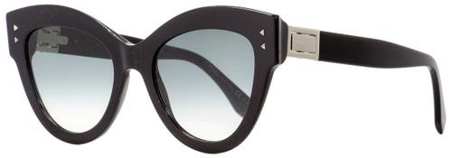 Fendi Cateye Sunglasses FF0266S 8079O Black/Palladium 52mm 266