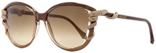 9f00adc11e45 Roberto Cavalli Oval Sunglasses RC972S Sterope 50G Rose Shaded/Brown 53mm  972S