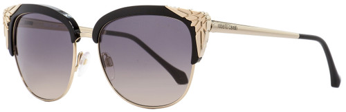 Roberto Cavalli Oval Sunglasses RC1014 Wezn 01B Black/Gold 56mm 1014