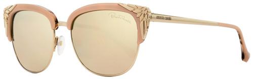 Roberto Cavalli Oval Sunglasses RC1014 Wezn 74L Gold/Rose 56mm 1014