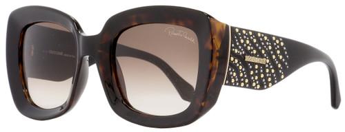 Roberto Cavalli Square Sunglasses RC1049 Chianti 52F Havana/Black 53mm 1049
