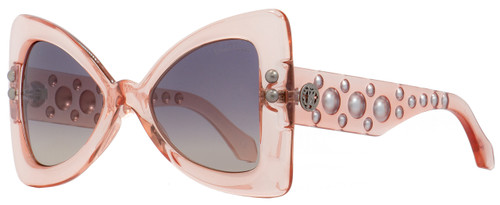 Roberto Cavalli Butterfly Sunglasses RC1055 Fiesole 72T Transparent Pink 50mm 1055