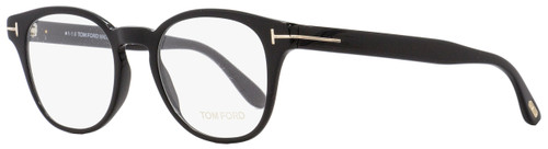 Tom Ford Oval Eyeglasses TF5400 001 Black 48mm FT5400