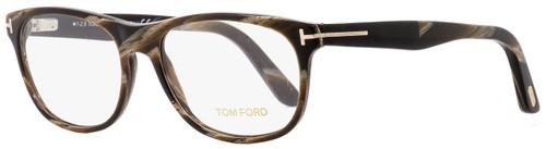Tom Ford Rectangular Eyeglasses TF5431 062 Brown Horn 53mm FT5431