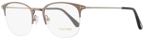 Tom Ford Semi-Rimless Eyeglasses TF5452 013 Matte Light Ruthenium 52mm FT5452