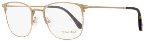 Tom Ford Rectangular Eyeglasses TF5453 029 Matte Gold/Havana 54mm FT5453