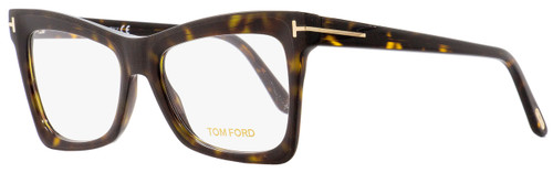 Tom Ford Butterfly Eyeglasses TF5457 052 Matte/Shiny Havana 52mm FT5457