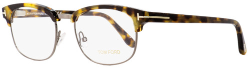 Tom Ford Rectangular Eyeglasses TF5458 056 Havana/Dark Ruthenium 53mm FT5458