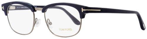 Tom Ford Rectangular Eyeglasses TF5458 090 Dark Blue/Dark Ruthenium 53mm FT5458
