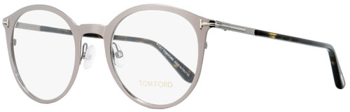 Tom Ford Oval Eyeglasses TF5465 014 Light Ruthenium/Havana 50mm FT5465