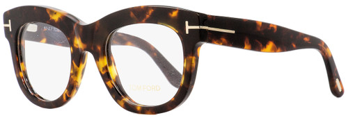 Tom Ford Oval Eyeglasses TF5493 052 Dark Havana 49mm FT5493