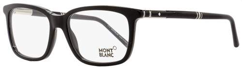 Montblanc Rectangular Eyeglasses MB489 001 Shiny Black 56mm 489
