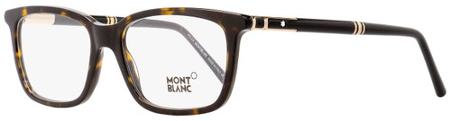 Montblanc Rectangular Eyeglasses MB489 052 Dark Havana/Black 56mm 489