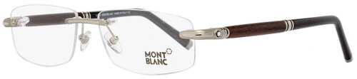 Montblanc Rimless Eyeglasses MB491 016 Palladium/Rosewood/Black 56mm 491