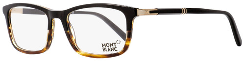 Montblanc Rectangular Eyeglasses MB540 056 Striped Havana/Black 55mm 540