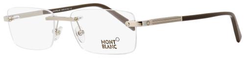 Montblanc Rimless Eyeglasses MB545 016 Palladium/Gray/Brown 55mm 545