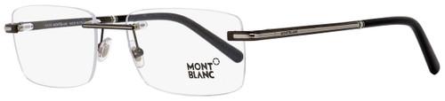 Montblanc Rimless Eyeglasses MB577 008 Palladium/Black 57mm 577