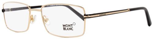 Montblanc Rectangular Eyeglasses MB578 001 Gold/Black 58mm 578