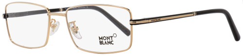 Montblanc Rectangular Eyeglasses MB578F 001 Gold/Black 57mm 578