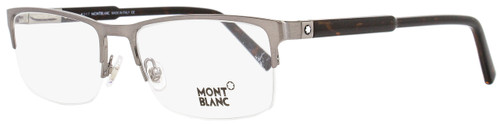 Montblanc Semi-Rimless Eyeglasses MB636 014 Ruthenium/Brown 56mm 636