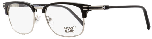 Montblanc Rectangular Eyeglasses MB669 001 Palladium/Black 53mm 669