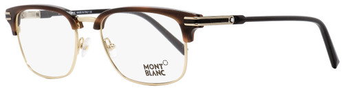 Montblanc Rectangular Eyeglasses MB669 048 Gold/Striped Havana/Black 53mm 669