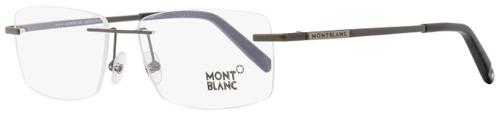 Montblanc Rimless Eyeglasses MB670 002 Dark Matte Gunmetal 56mm 670