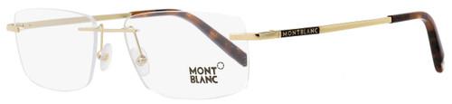 Montblanc Rimless Eyeglasses MB670 028 Gold/Havana 56mm 670