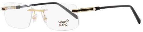 Montblanc Rimless Eyeglasses MB679 028 Gold/Black 56mm 679