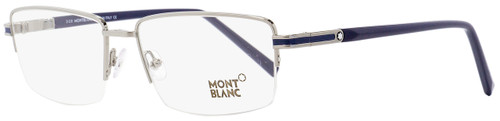 Montblanc Semi-Rimless Eyeglasses MB708 014 Palladium/Blue 56mm 708