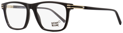 Montblanc Rectangular Eyeglasses MB710 001 Black/Gold 56mm 710