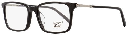 Montblanc Rectangular Eyeglasses MB742D 001 Black/Palladium 55mm 742