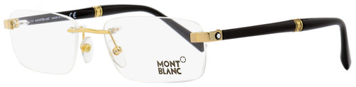 Montblanc Rimless Eyeglasses MB9101 E69 Yellow Gold/Black 53mm 9101
