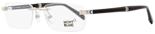 Montblanc Rimless Eyeglasses MB9101 F80 Rhodium/Black 53mm 9101