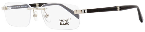 Montblanc Rimless Eyeglasses MB9101 F80 Rhodium/Black 55mm 9101