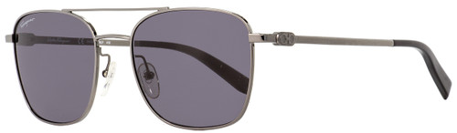Salvatore Ferragamo Rectangular Sunglasses SF158S 015 Gunmetal/Black 53mm 158