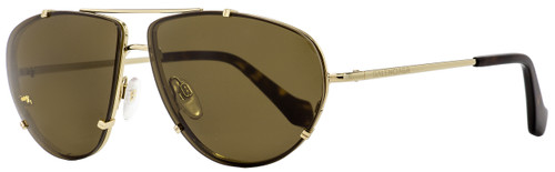 Balenciaga Aviator Sunglasses BA97 33J Gold/Havana 62mm BA097