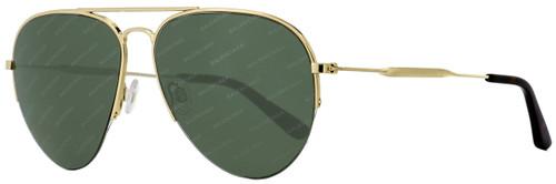 Balenciaga Aviator Sunglasses BA125 28N Gold/Dark Havana 58mm BA0125
