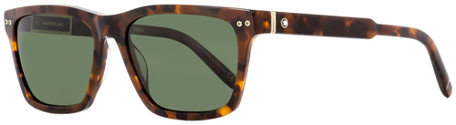 Montblanc Rectangular Sunglasses MB694S 52R Havana/Gold Polarized 56mm 694