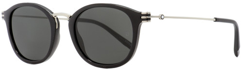 Montblanc Oval Sunglasses MB697S 01A Black/Palladium 50mm 697