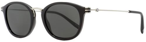 Montblanc Oval Sunglasses MB697S 01A Black/Palladium 50mm 697