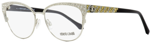 Roberto Cavalli Oval Eyeglasses RC5001 Abbadia 016 Palladium/Black 55mm 5001