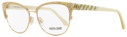 Roberto Cavalli Oval Eyeglasses RC5001 Abbadia 028 Gold/Ivory 55mm 5001