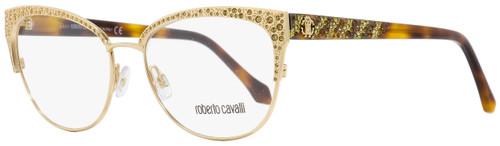 Roberto Cavalli Oval Eyeglasses RC5001 Abbadia A28 Gold/Havana 55mm 5001
