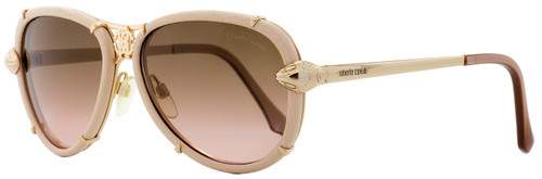 Roberto Cavalli Aviator Sunglasses RC885S Mebsuta 28F Gold/Rose 57mm 885